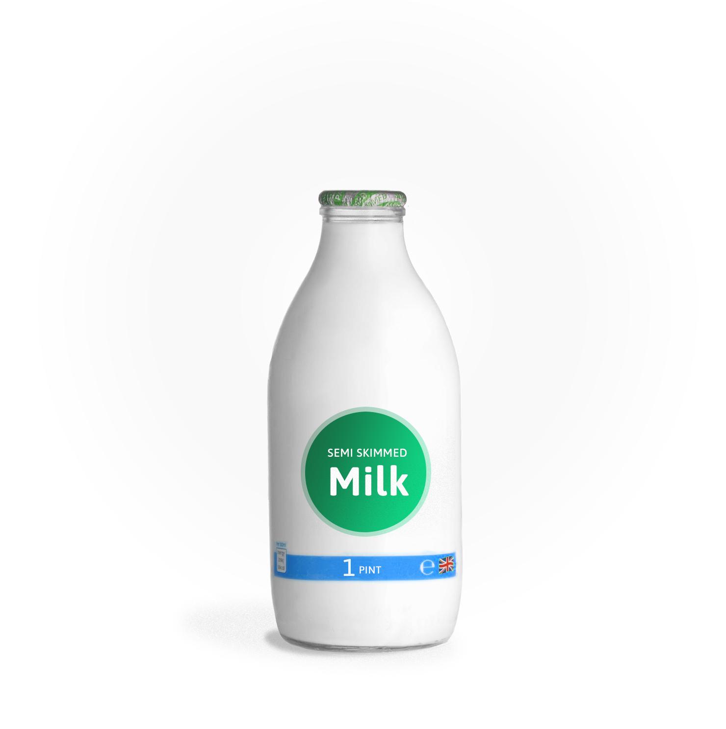 Office Milk Delivery Glass Bottles