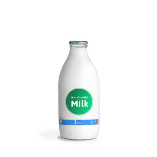 1 Pint Glass Milk Delivery - Semi